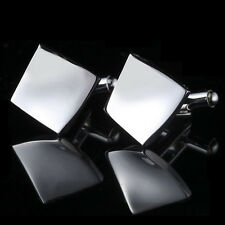 Silver Rhombus Stainless Men's Cuff Links mens Wedding party Gift Cufflinks