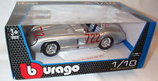 Mercedes Benz 300 SLR M.M.1955 Sterling Moss 1-18 Scale Model Burago New in box