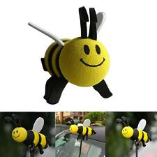 Cute Smiley Honey Bumble Bee Aerial Ball Car Antenna Topper For Truck SUV Decor