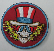 GRATEFUL DEAD COLLECTABLE RARE VINTAGE PATCH EMBROIDED UNCLE SAM  JERRY GARCIA