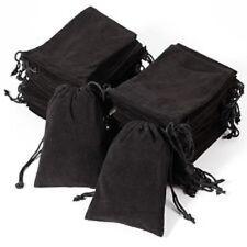 10 x Black Velvet Drawstring Jewellery Bags 7x9 cms Wedding Favours UK Seller