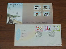 Singapore Special Stamp Issue - Coastal Birds / Orchids - FDC