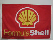 "Gas Station Fuel ""FORMULA SHELL"" Advertising Flag Racing Theme CLASSIC!"