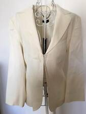 RRP$461 Max&CO by max mara white 3/4 sleeve blazer jacket I44 F42 UK12 US8