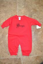 NEW - Georgia   INFANTS 18 MONTH (18M) red SOFT fleece one-piece romper 73AR