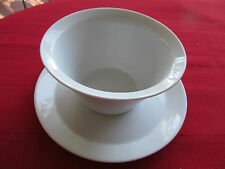 ROSENTHAL GERMANY ALL WHITE GRAVY BOAT/UNDERPLATE (SOUP BOWL?)CONTINENTAL BERLIN