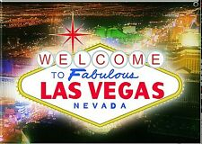 Welcome to Las Vegas steel fridge magnet (ga)