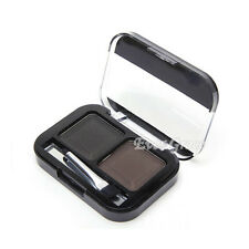 2Color Makeup Kit Eyebrow Powder Brown Natural Shading Palette Shadow With Brush