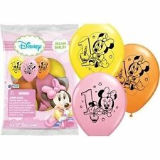 Baby Minnie Mouse 1st First Birthday Favor Balloons Party Supplies Decorations