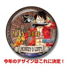 Tokyo One Piece Tower Limited Birthday Can Badge Monkey D. Luffy