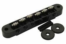 Roller Bridge Tune-o-Matic with m4 threaded posts Gibson Les Paul - Black