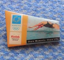 OLYMPIC ATHENS 2004 SWIMMING KODAK SPONSOR PIN BADGE