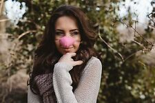NOSE WARMER. SOFT PINK FLEECE. From The Nose Warmer Co. Design Registered.