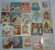 Vintage Christmas Greeting Card Used Lot of 20 from 30's, 40's, 50's ANGELS