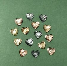 Dress it Up Heart Rhinestones - Cappuccino - Valentine Faceted - Metallic Button