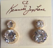 New CZ By Kenneth Jay Lane Crystal Statement Earrings