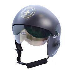 Adult Jet Fighter Pilot Helmet Top Gun Fancy Dress Costume Accessory
