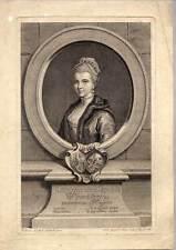 Christiana Sophia Wincklerin - Portrait-Kupferstich von Saiter nach Gutsche 1774