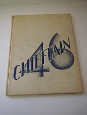 Original 1946 CHIEFTAN High School Yearbook