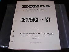 NOS Honda OEM Parts Catalog Manual 1969-1973 CB175 K3-K7