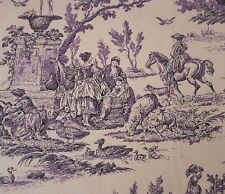 Toile Print Faye Burgos for Marcus Brothers BTY Purple & Black on Light Tan