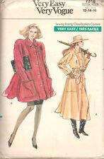 Très facile vogue manteau's sewing pattern 7318 taille 12-14-16