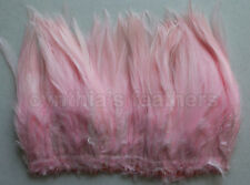 """100+ (9g, 0.32Oz) Baby Pink 5-7"""" saddle COQUE rooster Feathers for crafting etc."""
