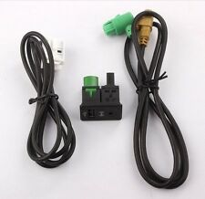 Switch AUX IN Jack USB Plug + Cables for VW Touran Tiguan RCD510 RCD300 RCD310 +
