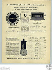 1913 PAPER AD Hand & Stationary Tachometers Motor Cylinder Compression Tester