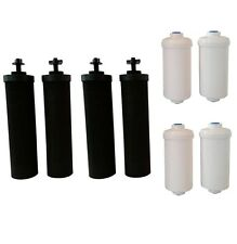 4 Black Berkey & 4 PF-2 Fluoride Filters Big Royal Imperial Crown Travel Light