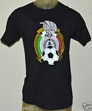 NEW ADIDAS MEXICO FUTBOL SOCCER AGUILA MEXICANA FIFA Men's MEDIUM BLACK T-Shirt