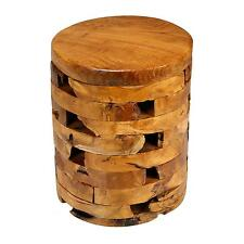 Stonehenge Artisian Accent End Table in Solid Teak Wood