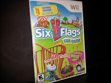 SIX FLAGS FUN PARK (Wii, 2009) COMPLETE GAME FAST FREE SHIPPING!