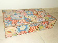 ancien boite de couture en tissu vintage mercerie sewing old box art populaire