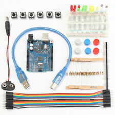 UNO R3 For Arduino Beginner Starter Kit Breadboard With Jumper  Wire Button