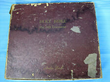 Holy Bible Audio Book Co. Complete Old Testament 16 2/3 RPM Vinyl Records 1953