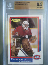 1986 O-Pee-Chee OPC Hockey #53 Patrick Roy Rookie Rc BGS 9.5 Gem Mint **HOF**