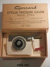 Vintage Garrard Stylus Pressure Gauge model SPG3 With Manual