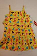NEW Toddler Girls Sun Dress Size 2T Yellow Hearts Fisher Price Summer Clothes