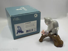 Lladro Figurine #8382 Blossoms for Kitten, with Box