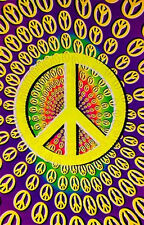 PEACE SIGN - BLACKLIGHT POSTER - 24X36 FLOCKED 6019
