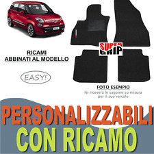 TAPPETI AUTO SU MISURA PER FIAT 500L MOQUETTE CON FONDO IN GOMMA + RICAMO EASY