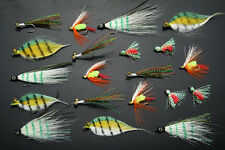 40x Clouser Saltwater Flies Fly Fishing Lure Lures Bugs BASS Salmon Tailor Bream