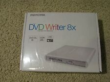 Memorex DVD Burner Writer Slim External USB 8x DVD 24x CDR DL - MAC or PC NEW