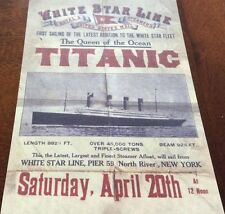 Queen of the Ocean TITANIC Poster Old Ship Ocean Liner Boat Historical (29)