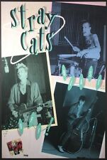 STRAY CATS BLAST OFF! VINTAGE 1989 PROMO POSTER