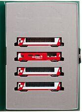 KATO N scale 10-1146 Rhaetian Railway Alps Glacier Express Add-On 4-Car Set
