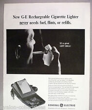 General Electric Rechargeable Cigarette Lighter PRINT AD - 1965