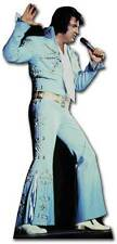 ELVIS PRESLEY BLUE JUMPSUIT LIFESIZE CARDBOARD CUTOUT the king of rock and roll