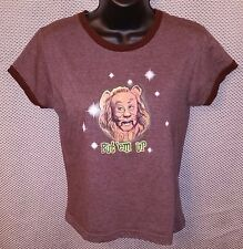The Wizard of Oz Cowardly Lion Put 'em Up Brown Movie T-Shirt - Juniors Large